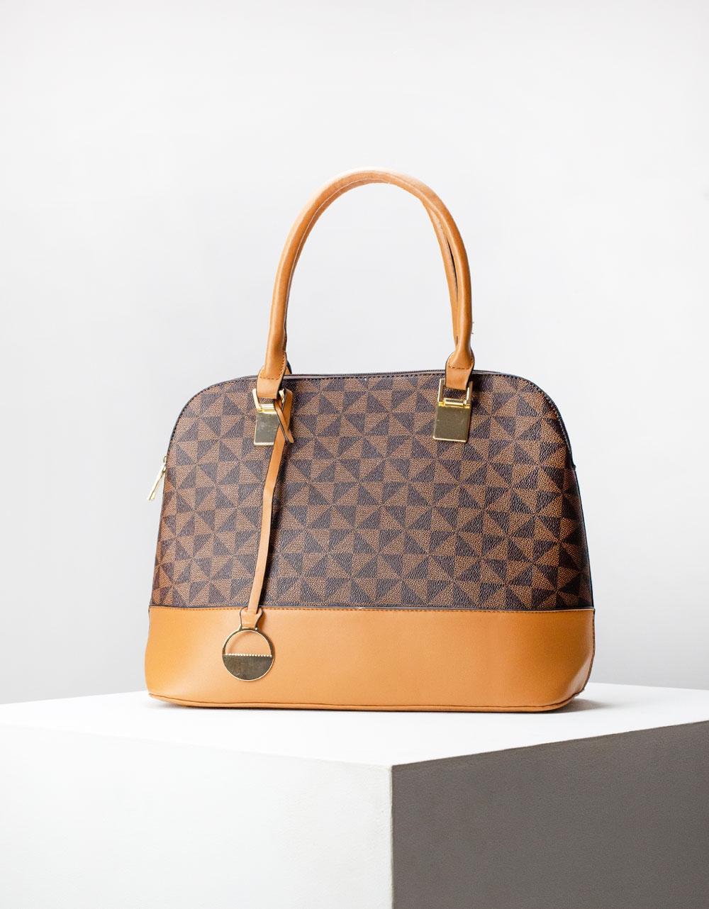 Εικόνα από Γυναικεία τσάντα με σχέδιο Καφέ