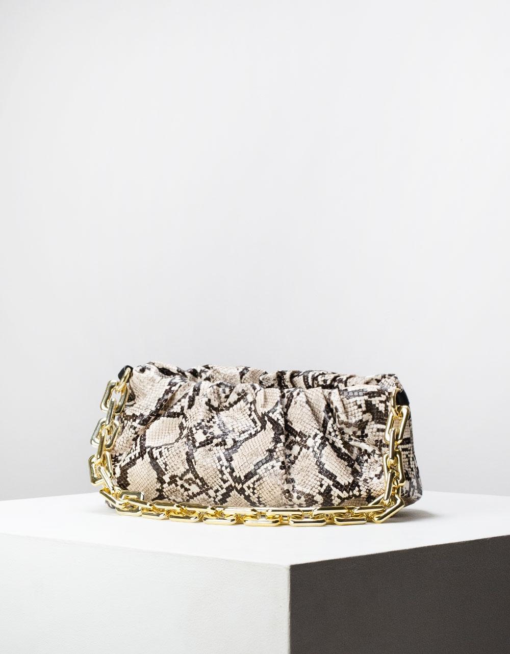 Εικόνα από Γυναικεία τσάντα ώμου & χιαστί animal print Μπεζ