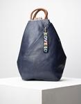 Εικόνα από Γυναικεία σακίδια πλάτης με διακοσμητικό μπρελόκ Μπλε