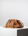 Εικόνα από Γυναικεία τσάντα ώμου & χιαστί με σούρες και αλυσίδα Ταμπά