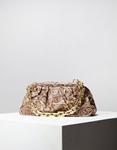 Εικόνα από Γυναικεία τσάντα ώμου & χιαστί με σούρες animal print Μπεζ