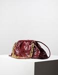 Εικόνα από Γυναικεία τσάντα ώμου & χιαστί με σούρες animal print Μπορντώ