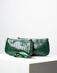 Εικόνα από Γυναικεία τσάντα ώμου & χιαστί με 3 σετ κροκό Πράσινο