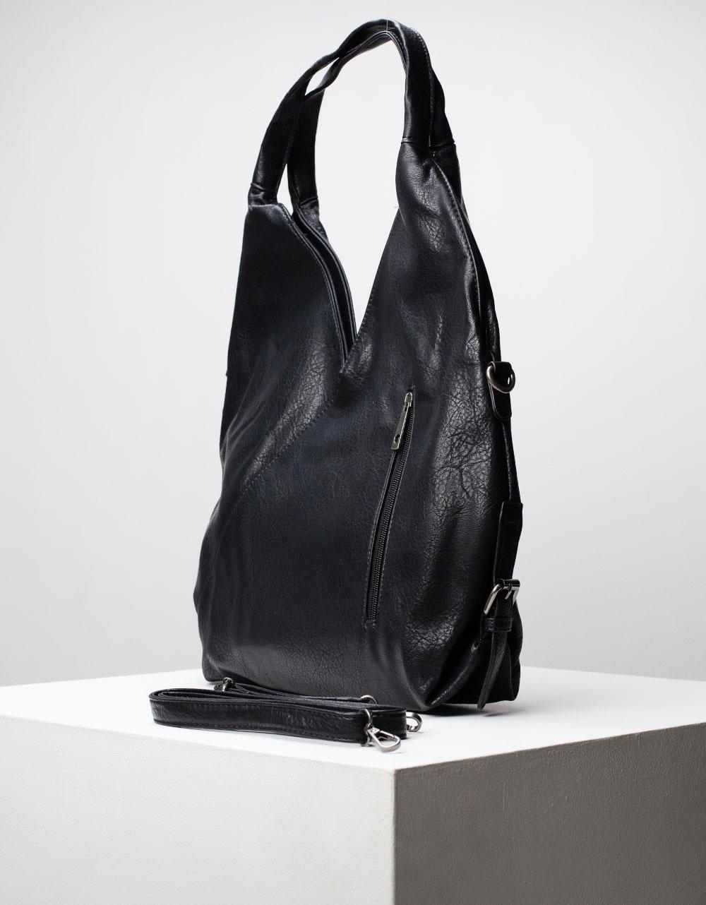 Εικόνα από Γυναικεία τσάντα ώμου σε σχήμα V Μαύρο