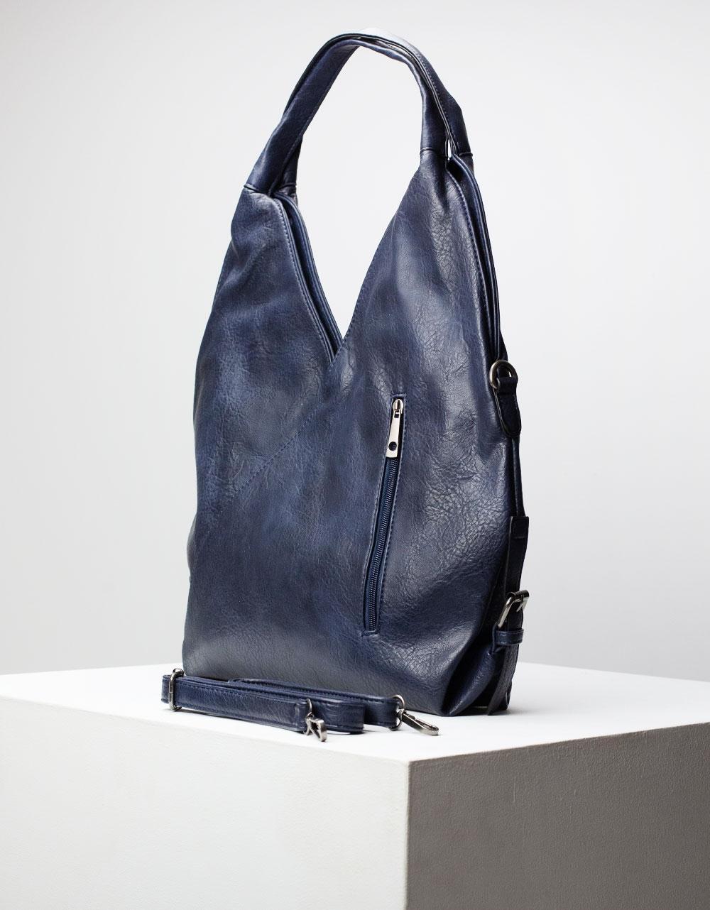 Εικόνα από Γυναικεία τσάντα ώμου σε σχήμα V Μπλε
