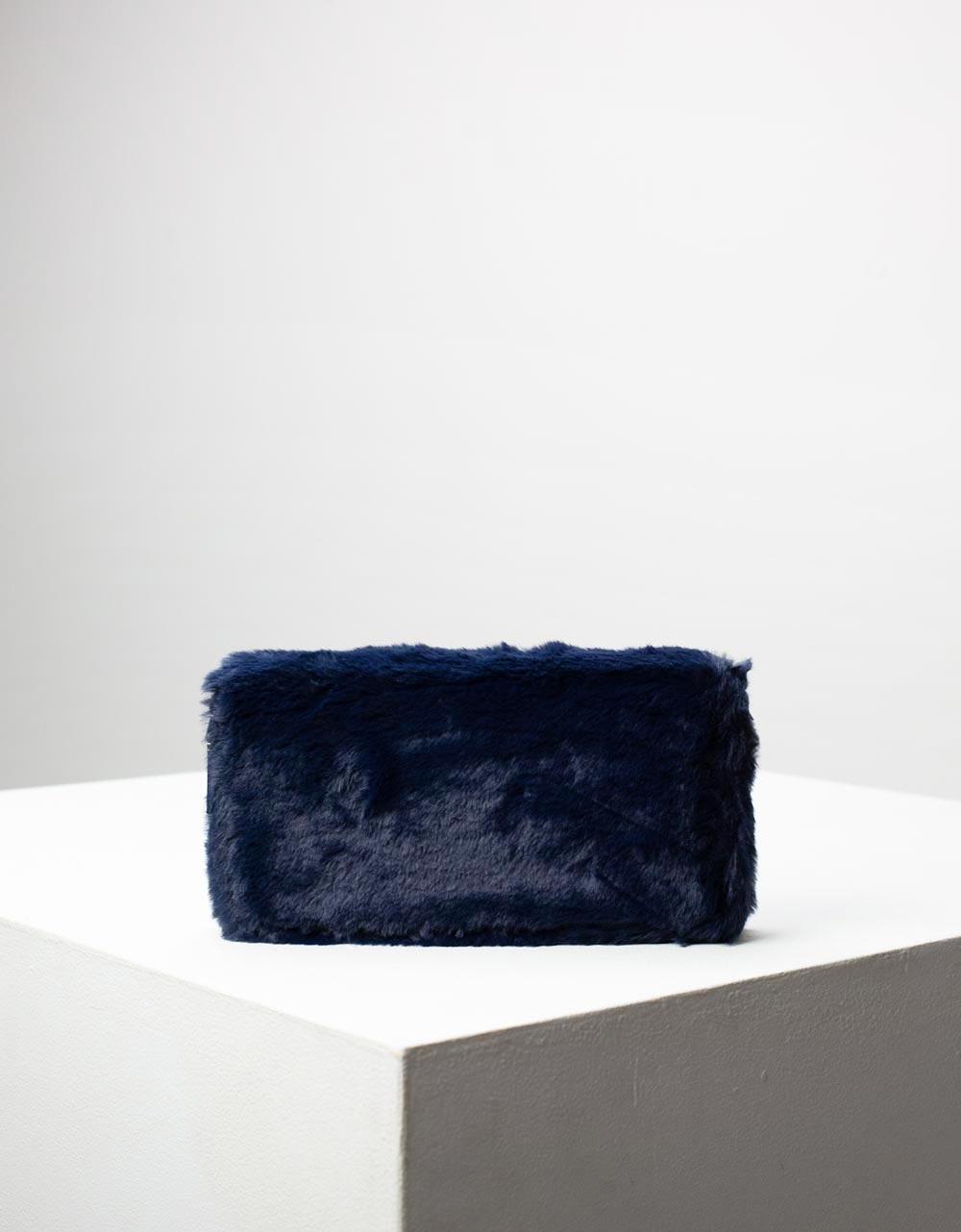 Εικόνα από Γυναικείο πορτοφόλι γούνινο Μπλε