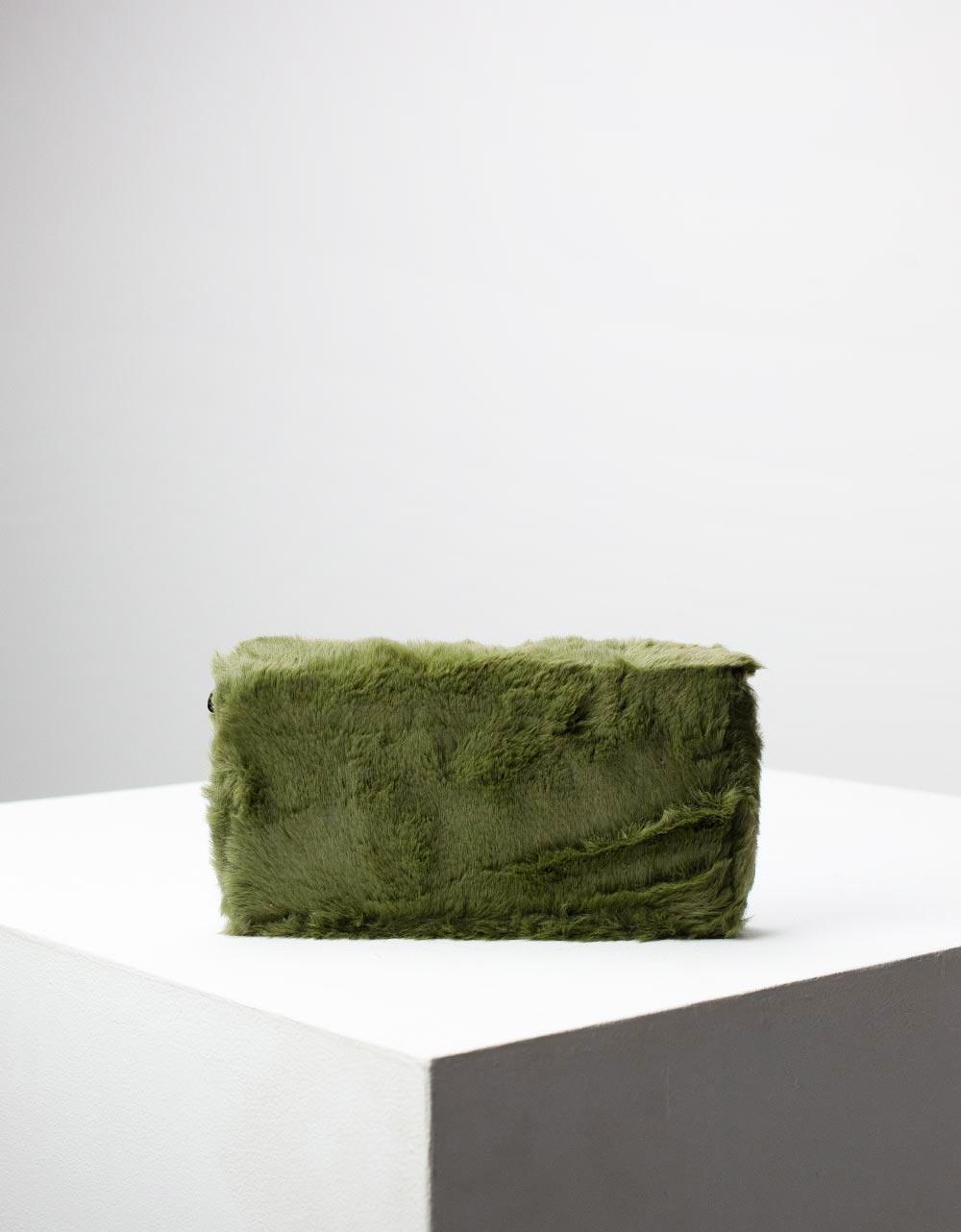 Εικόνα από Γυναικείο πορτοφόλι γούνινο Χακί