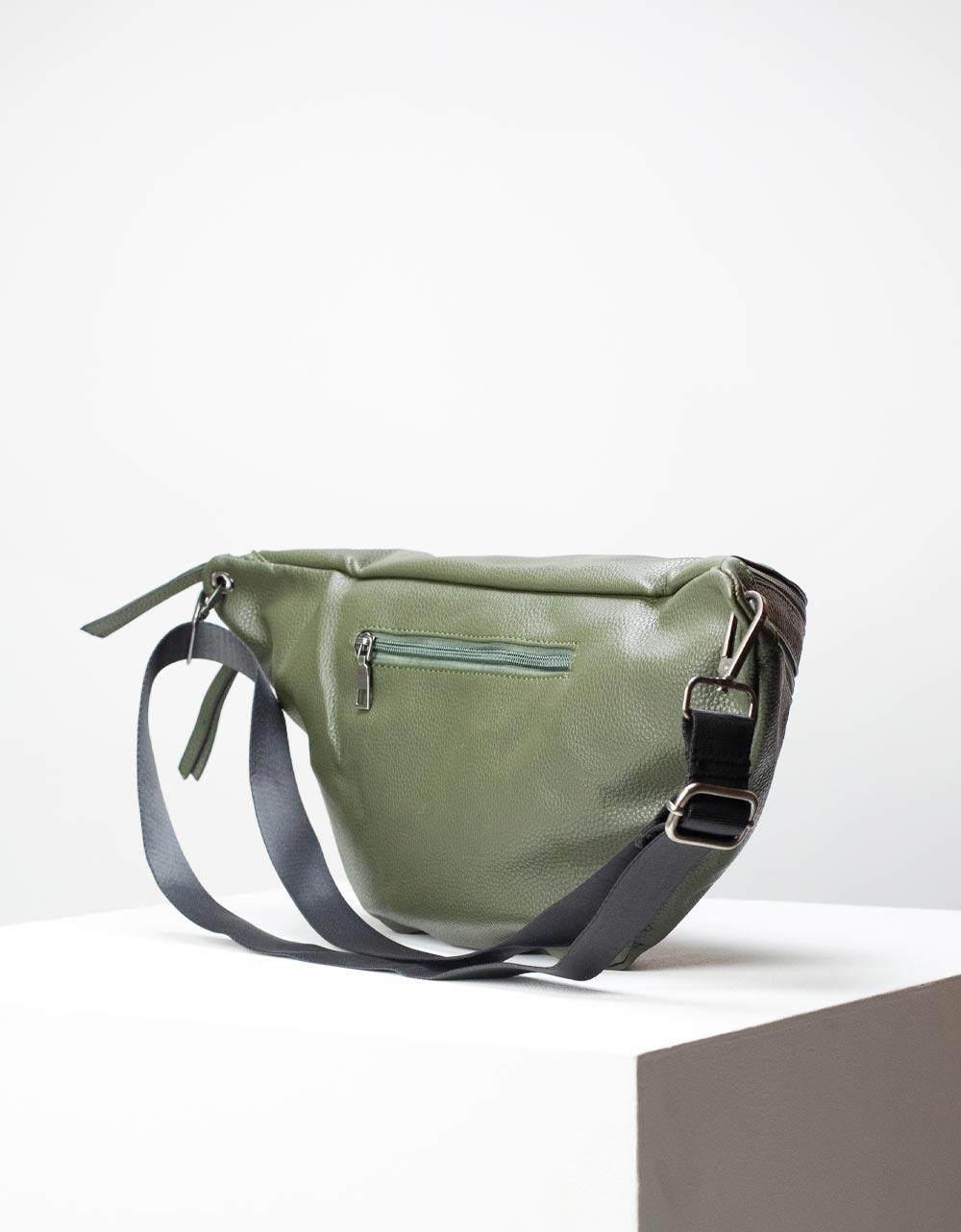 Εικόνα από Γυναικεία τσάντα μέσης με δύο θήκες Χακί