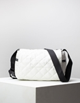 Εικόνα από Γυναικεία τσάντα ώμου & χιαστί καπιτονέ Λευκό