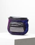 Εικόνα από Γυναικεία τσάντα ώμου & χιαστί με τρουκς στο τσεπάκι Μπλε