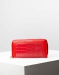 Εικόνα από Γυναικεία πορτοφόλια με κροκό σχέδιο Κόκκινο