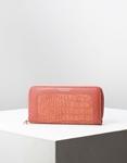 Εικόνα από Γυναικεία πορτοφόλια με κροκό σχέδιο Ροζ