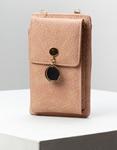 Εικόνα από Γυναικεία πορτοφόλια με εξωτερική θήκη κινητού και μεταλλικό διακοσμητικό Ροζ