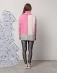 Εικόνα από Γυναικεία μπλούζα με τρίχρωμες λεπτομέρειες Ροζ