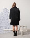 Εικόνα από Γυναικείo παλτό μπουκλέ Μαύρο