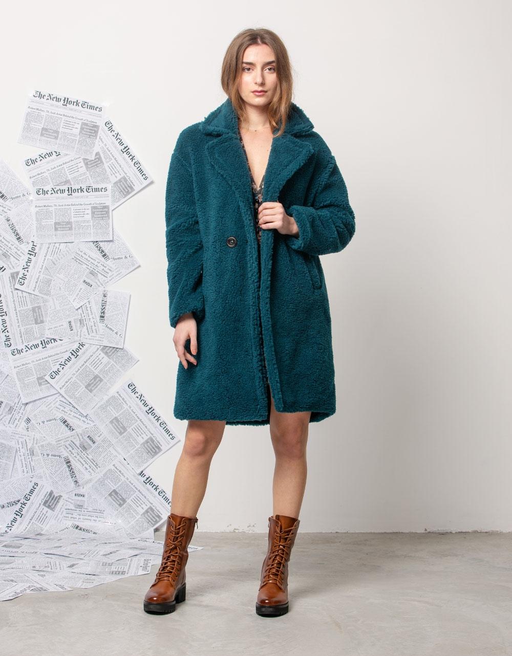 Εικόνα από Γυναικείo παλτό μπουκλέ Βεραμάν