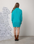 Εικόνα από Γυναικείο φόρεμα πλεκτό ζιβάγκο Σιέλ