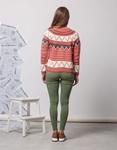 Εικόνα από Γυναικεία μπλούζα πλεκτή με σχέδια Κόκκινο
