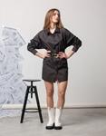 Εικόνα από Γυναικείο πουκάμισο ασύμμετρο Μαύρο