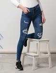 Εικόνα από Γυναικείo παντελόνι με σκισίματα Τζιν