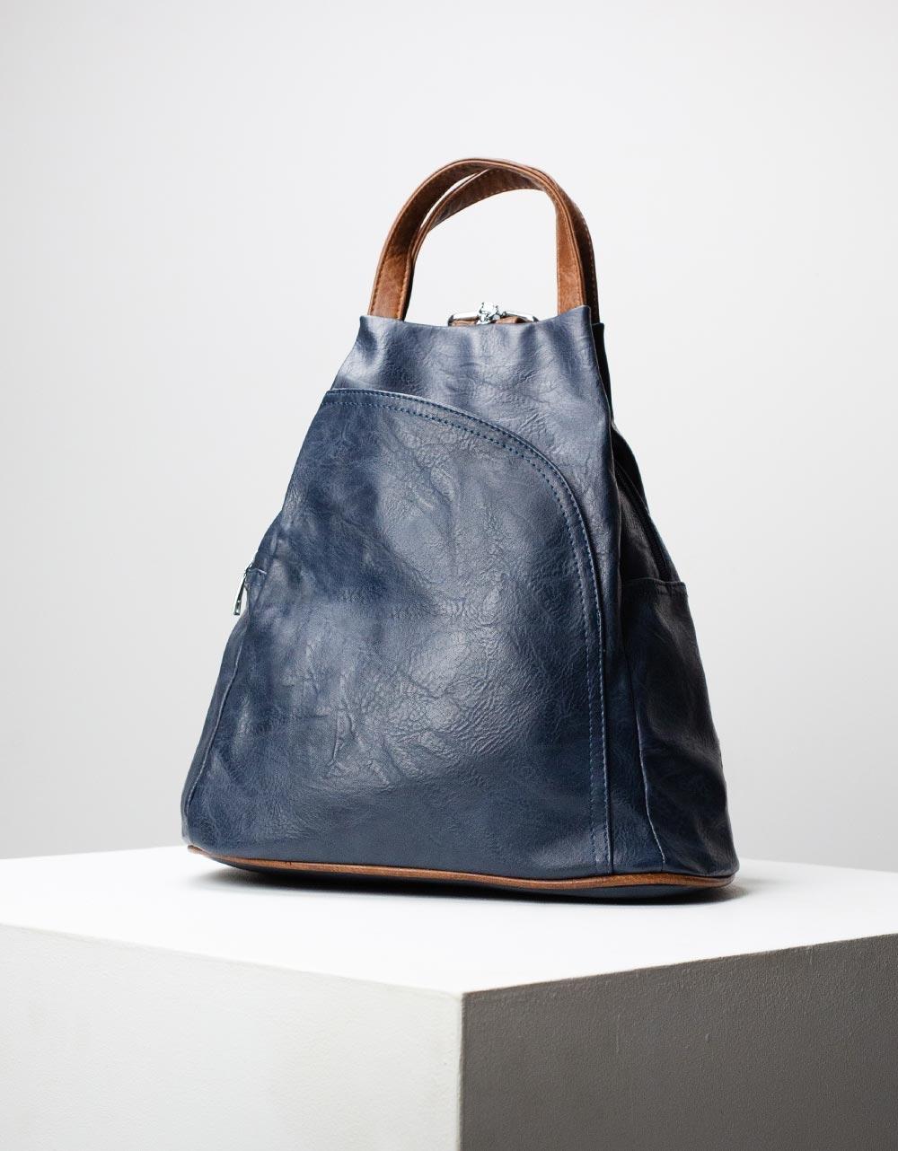 Εικόνα από Γυναικεία σακίδια πλάτης με δίχρωμα λουράκια Μπλε