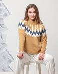 Εικόνα από Γυναικεία μπλούζα πλεκτή με σχέδιο Κάμελ
