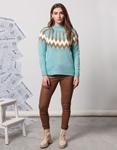 Εικόνα από Γυναικεία μπλούζα πλεκτή με σχέδιο Σιέλ