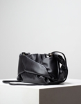 Εικόνα από Γυναικεία τσάντα ώμου & χιαστί με σούρες Μαύρο