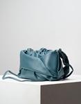 Εικόνα από Γυναικεία τσάντα ώμου & χιαστί με σούρες Πετρόλ