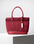 Εικόνα από Γυναικεία τσάντα ώμου & χιαστί με velvet υλικό Κόκκινο