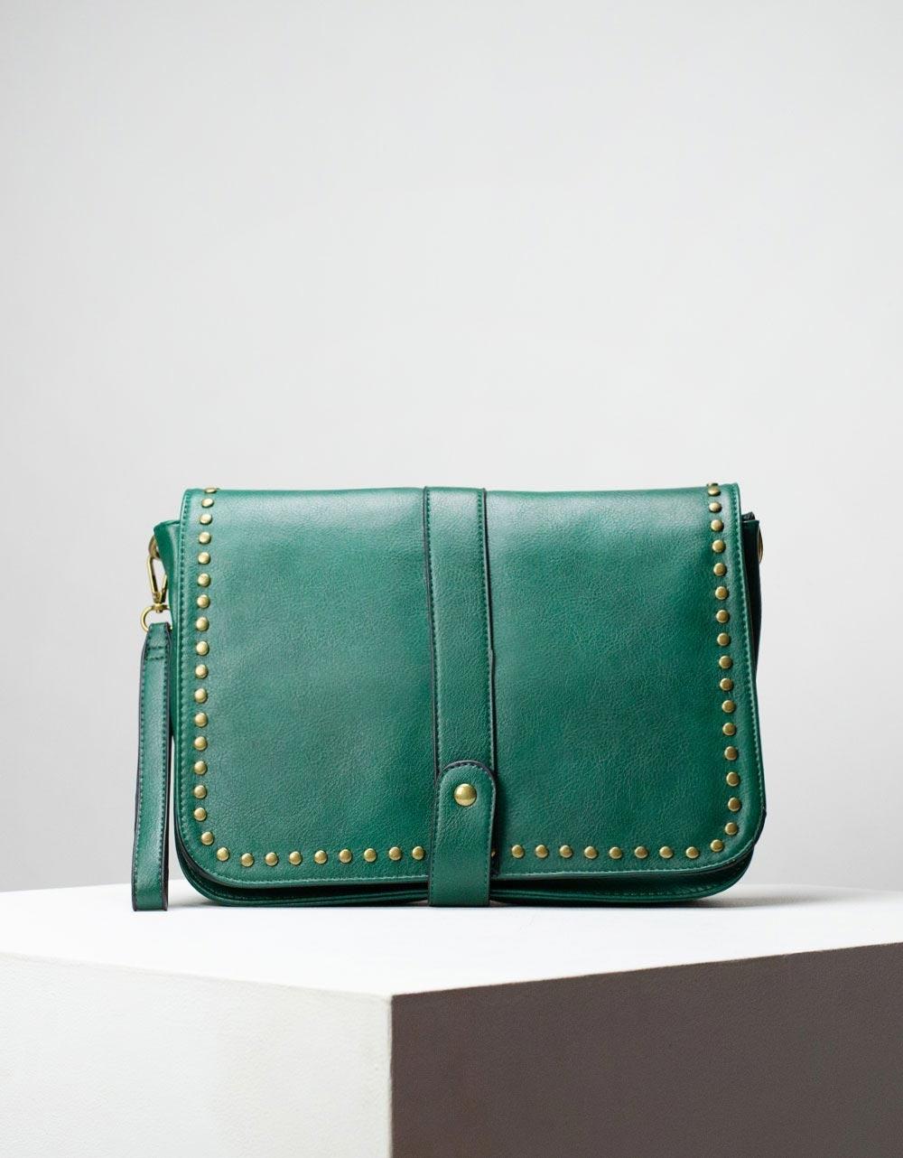 Εικόνα από Γυναικεία τσάντα ώμου & χιαστί με τρουκς Πράσινο