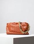 Εικόνα από Γυναικεία τσάντα ώμου & χιαστί με αλυσίδα Ταμπά