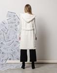 Εικόνα από Γυναικείο παλτό αμάνικο από οικολογική γούνα Λευκό