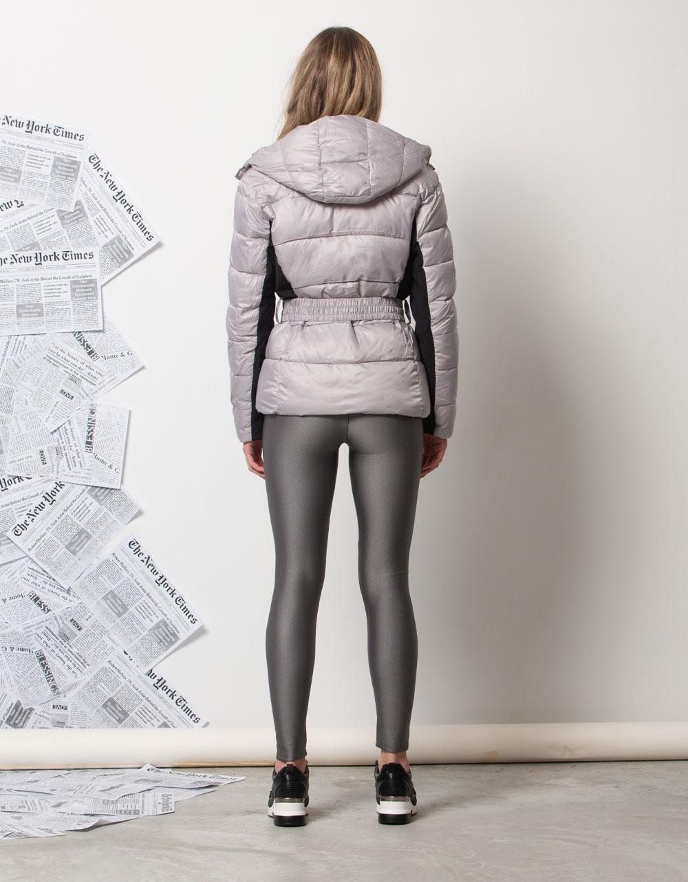 Εικόνα από Γυναικείο μπουφαν με αποσπώμενη κουκούλα Γκρι