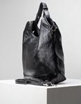 Εικόνα από Γυναικεία τσάντα ώμου & χιαστί με μεταλλική χειρολαβή Μαύρο