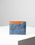 Εικόνα από Ανδρικά δερμάτινα πορτοφόλια σε συνδιασμό χρωμάτων Μπλε