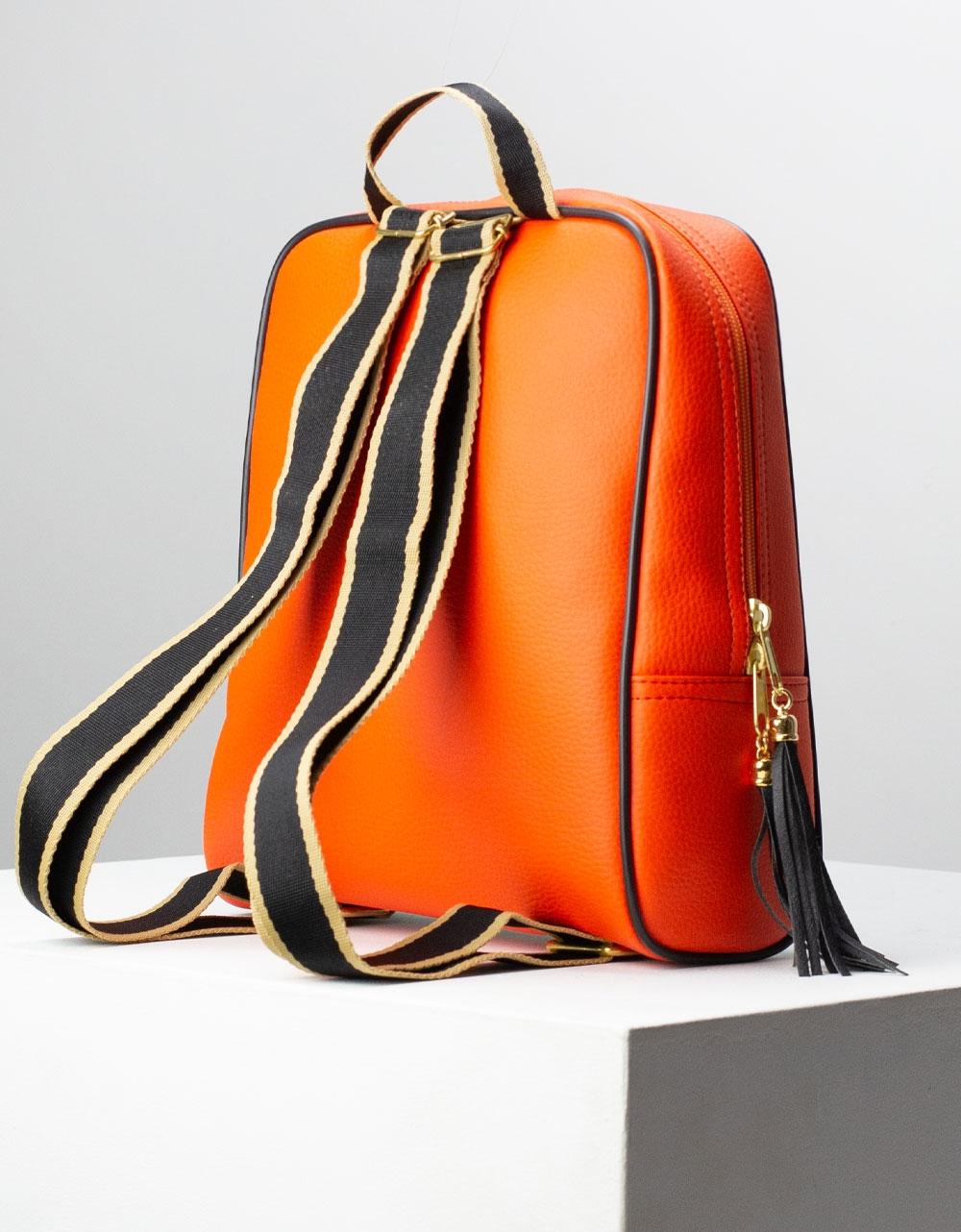 Εικόνα από Γυναικεία σακίδια πλάτης με φιγούρα μπαλαρίνα Πορτοκαλί