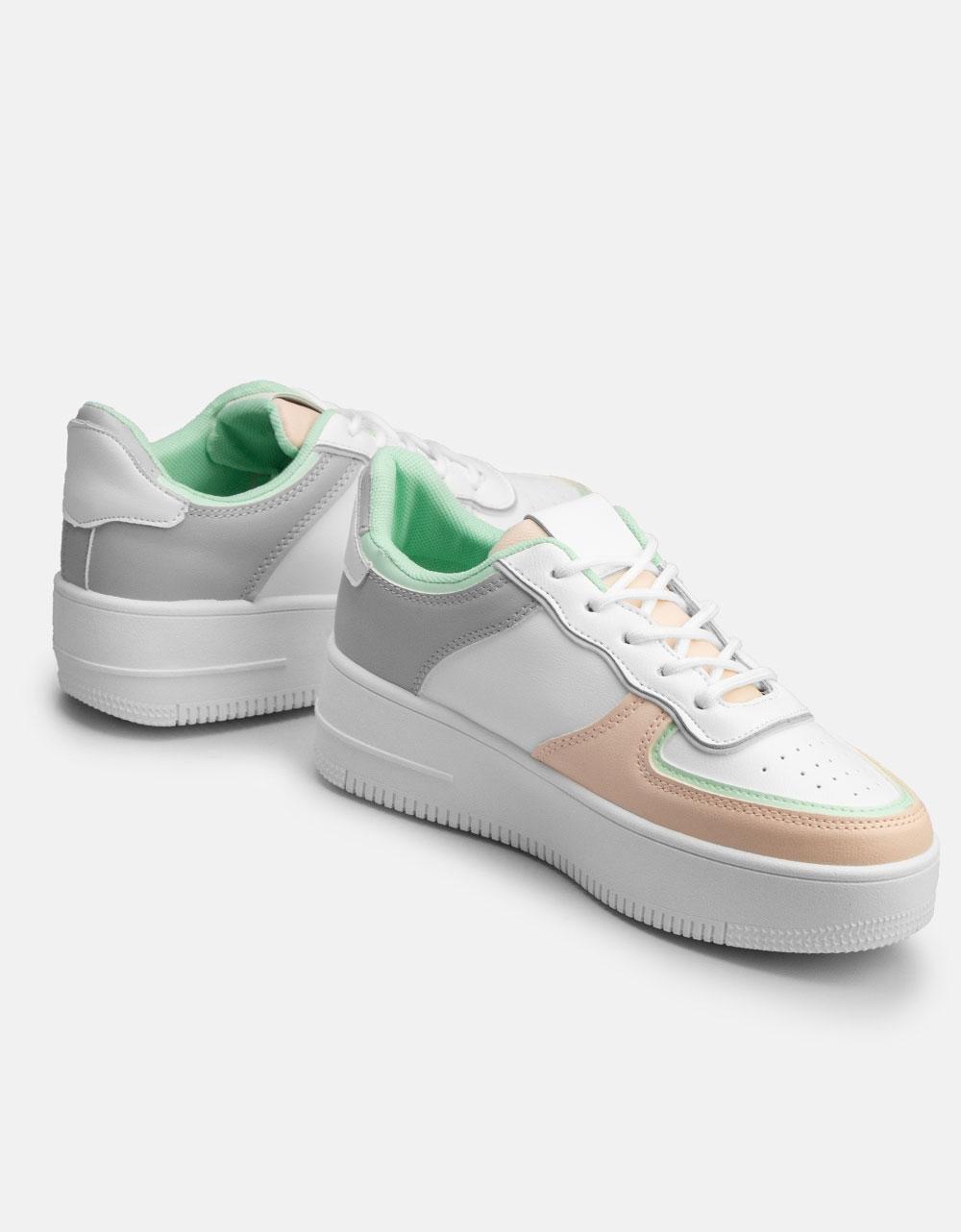 Εικόνα από Γυναικεία sneakers με διπλή σόλα Γκρι