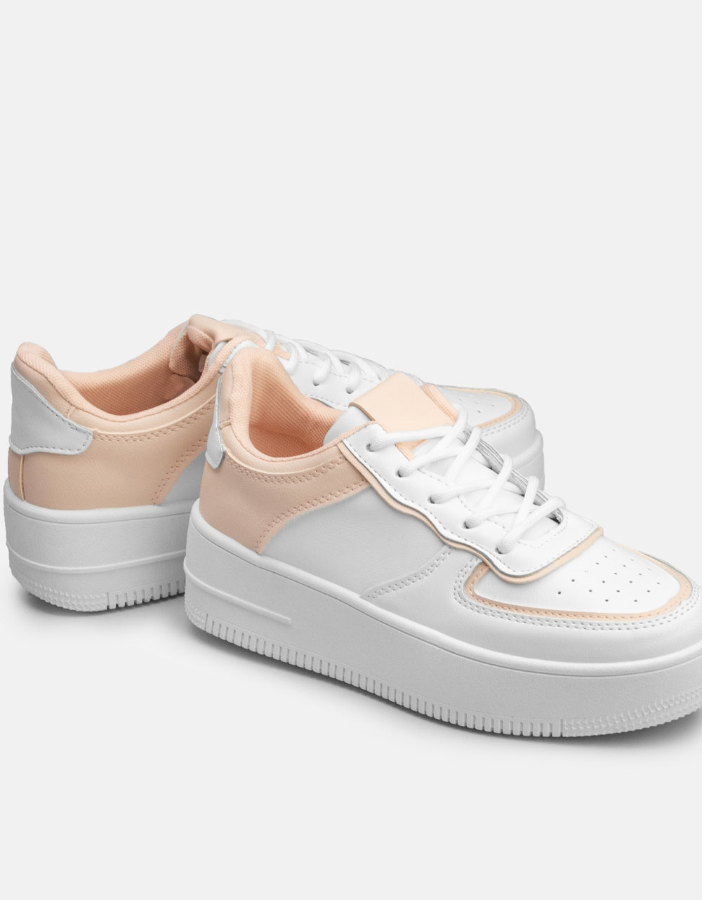 Εικόνα από Γυναικεία sneakers με διπλή σόλα Ροζ