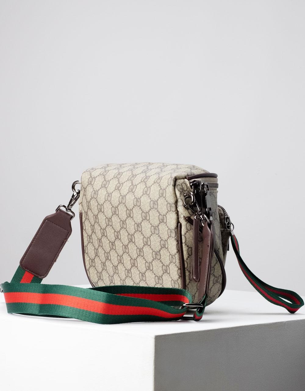 Εικόνα από Γυναικεία τσάντα ώμου & χιαστί με σχέδιο Γκρι