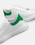 Εικόνα από Γυναικεία sneakers με διπλή σόλα και διχρωμία Λευκό/Πράσινο