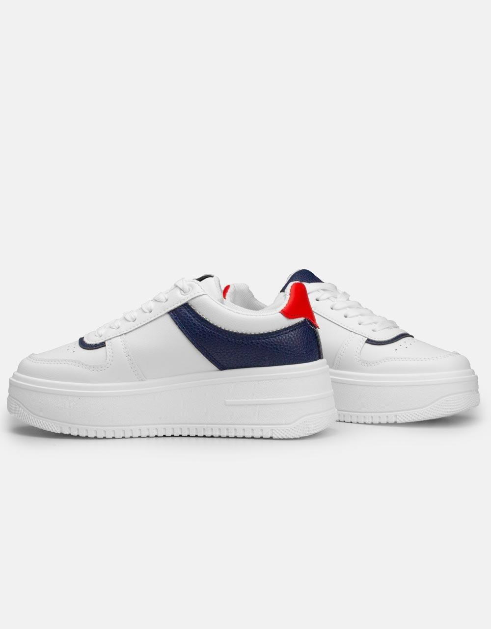 Εικόνα από Γυναικεία sneakers σε συνδυασμούς χρωμάτων Λευκό/Μπλε