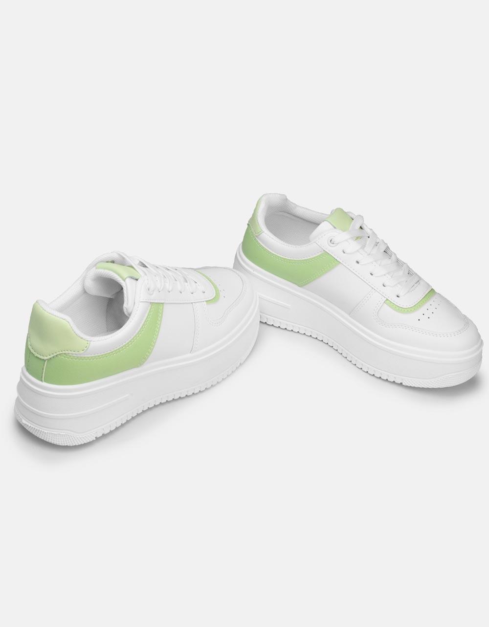 Εικόνα από Γυναικεία sneakers σε συνδυασμούς χρωμάτων Λευκό/Πράσινο