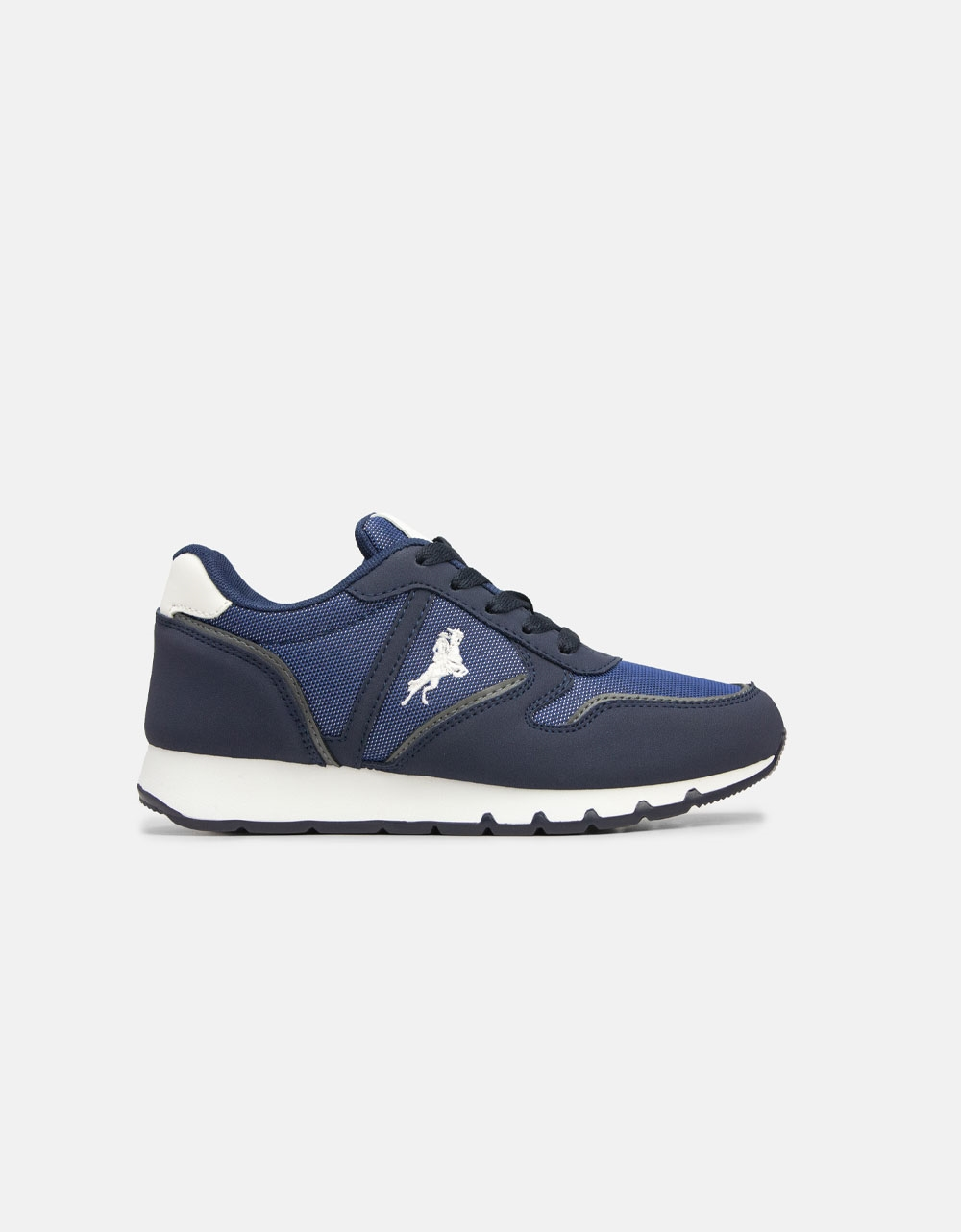 Εικόνα από Γυναικεία sneakers σε συνδυασμούς υλικών Μπλε
