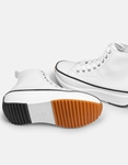 Εικόνα από Γυναικεία sneakers μποτάκια με λεπτομέρεια στην σόλα Λευκό
