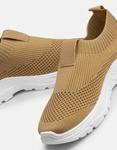 Εικόνα από Γυναικεία sneakers κάλτσα με διπλή σόλα Μπεζ