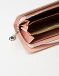 Εικόνα από Γυναικεία πορτοφόλια με κροκό σχέδιο Σομόν