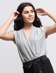 Εικόνα από Γυναικεία μπλούζα κορμάκι με glitter Γκρι