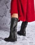 Εικόνα από Γυναικείες μπότες με τρουκς Μαύρο