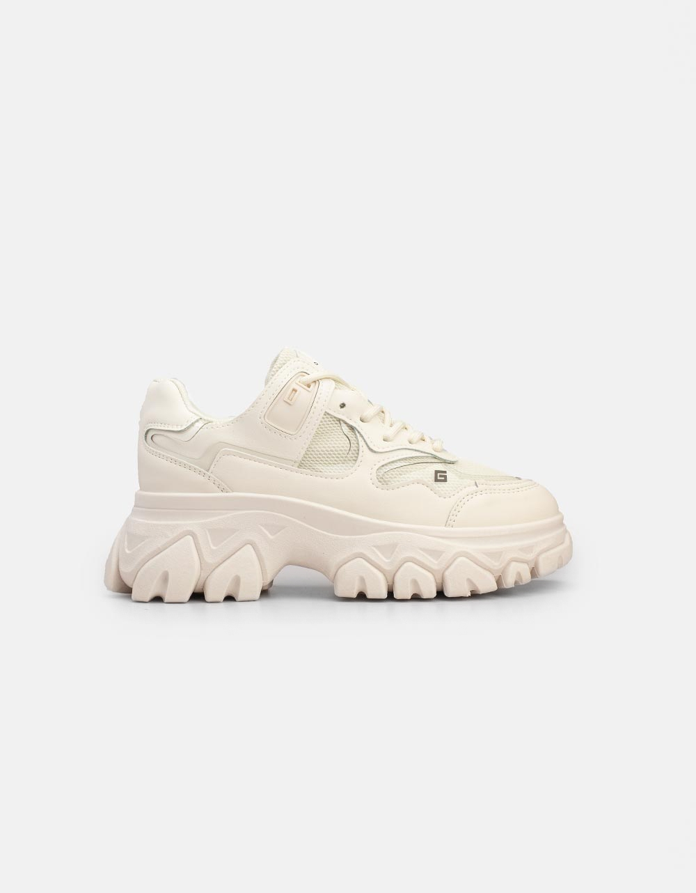Εικόνα από Γυναικεία sneakers με Chunky σόλα Μπεζ